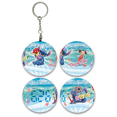 Stitch史迪奇球形拼圖鑰匙圈24片