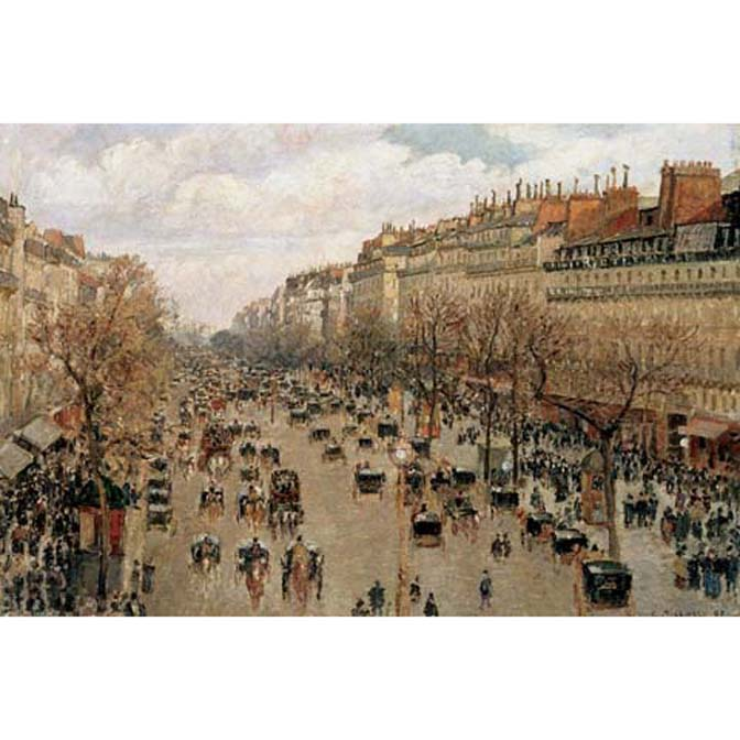 1000片拼圖 名畫: 畢沙羅-巴黎蒙馬特林蔭大道 Boulevard Monmartre in Paris
