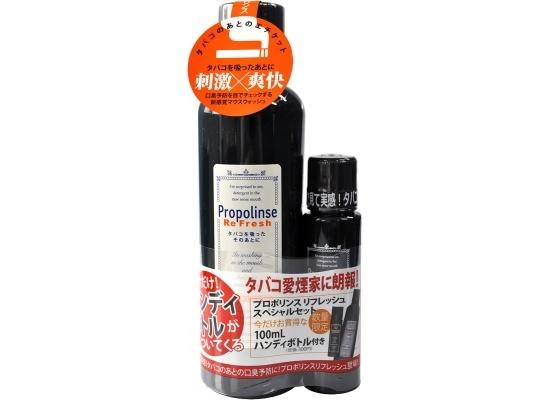 日本 Propolinse 勁涼黑哈菸專用蜂膠漱口水 600ml+100ml/組◆德瑞健康家◆