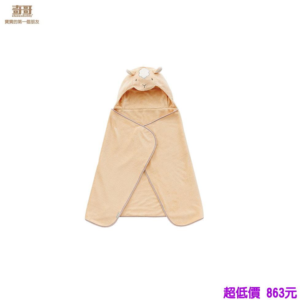 *美馨兒* 奇哥- 吸濕速乾造型浴袍巾-米色小羊 863元
