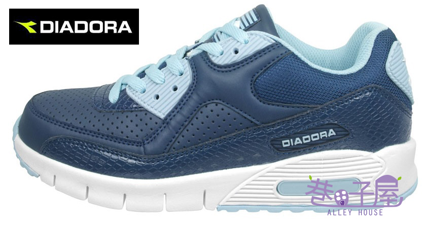 【巷子屋】義大利國寶鞋-DIADORA迪亞多納 女款D寬楦超輕潮流慢跑鞋 200g [2886] 藍 超值價$756