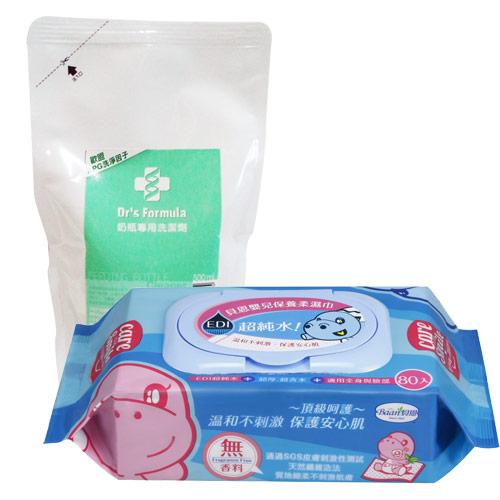 【奇買親子購物網】聖誕節最佳好禮貝恩EDI超純水柔濕巾特價組(箱)(無香料)+台塑生醫Dr\