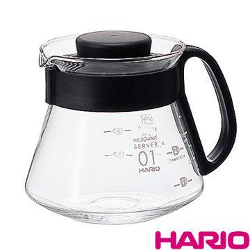 HARIO V60好握黑色耐熱玻璃壺-XVD-36B,360ml