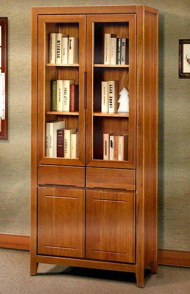 【尚品家具】413-08 南洋檜木實木3尺書櫃書櫥收納櫃~台灣製造《台中多區免運》
