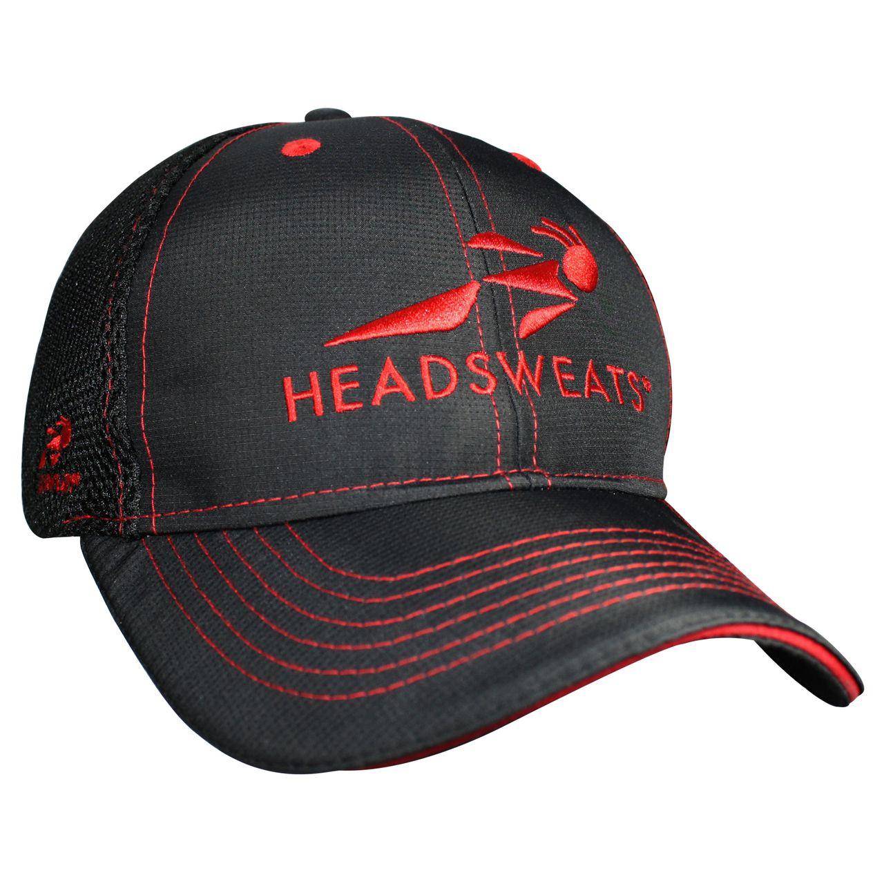 騎跑泳/勇者-HEADSWEATS汗淂卡車司機帽-紅黑色,網帽,棒球帽,休閒帽.潮帽