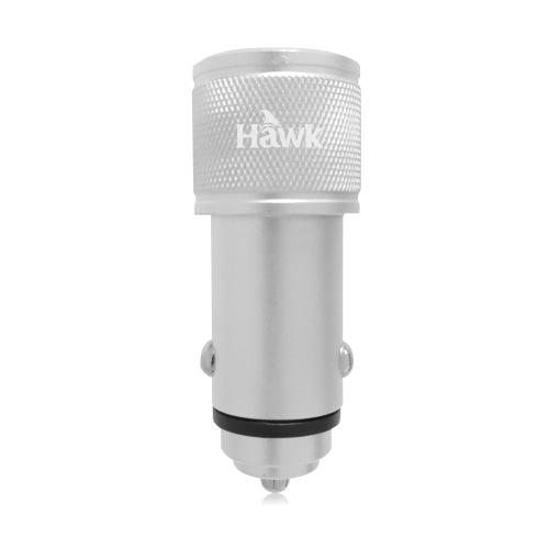 Hawk 鋁合金4.8A車用快速充電器(銀)