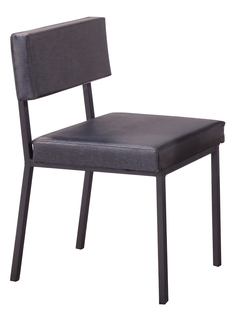 【石川家居】CE-453-14 艾德黑腳餐椅 藍皮 (不含餐桌與其他商品)