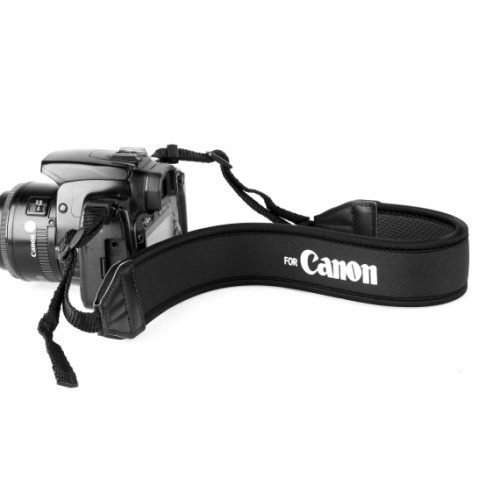 攝彩@Canon Nikon Sony Olympus Pentex各廠牌相機減壓背帶-白字黑底款-20601