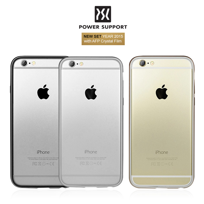 ? 未拆封福利品出清 ? POWER SUPPORT Bumper Jacket iPhone 6/6S 邊框保護殼 (含保貼)