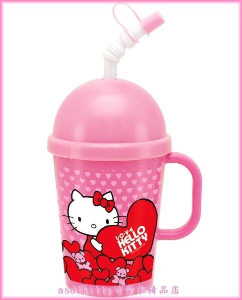 廚房【asdfkitty可愛家】KITTY快速冰沙杯-有吸管.做好冰沙可直接喝