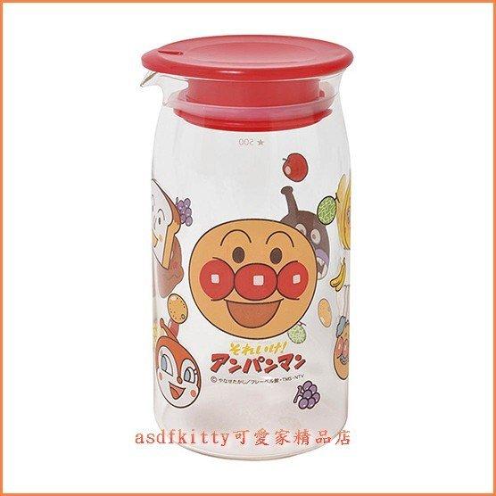 asdfkitty可愛家☆麵包超人玻璃水壺/萬用玻璃罐-500ML-日本正版商品-日本製