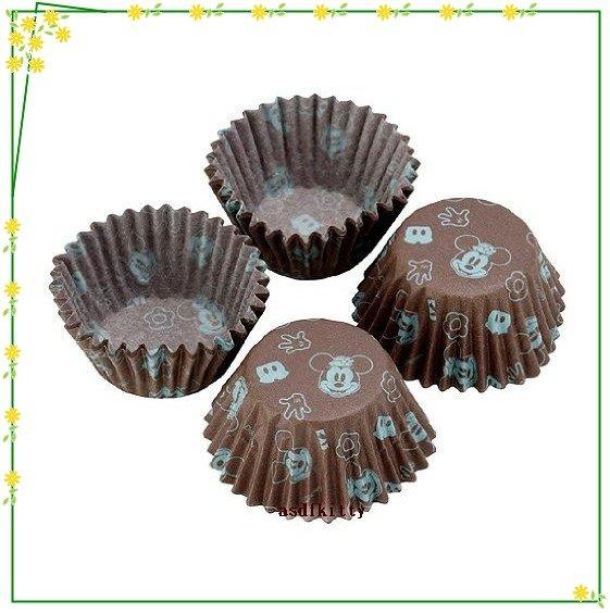 廚房【asdfkitty】貝印米奇巧克力包裝咖啡色紙杯-40入-裝糖果.手工皂.小蛋糕-日本製