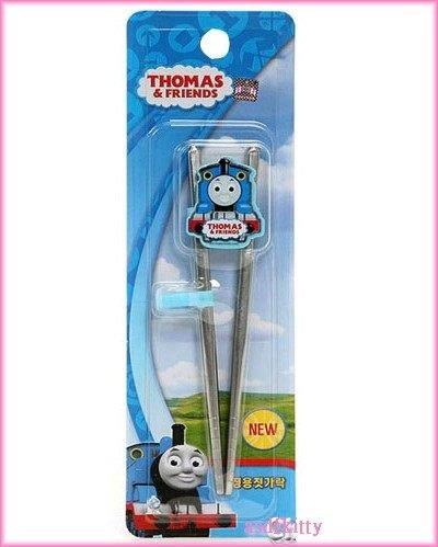 嬰童用品【asdfkitty】湯瑪士不鏽鋼學習筷子/圓筷頭-左右手通用--無毒安全-韓國製