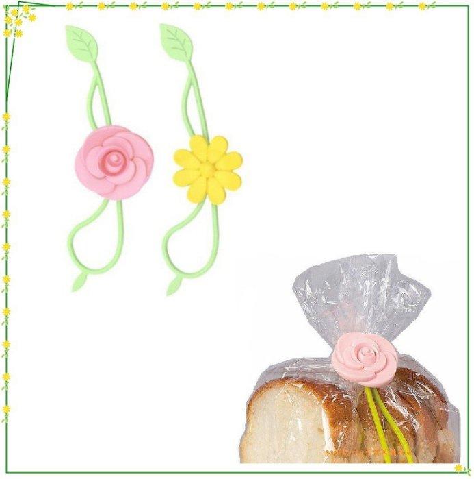 asdfkitty可愛家☆日本LEC花型束口環/橡皮筋-可綁零食袋/塑膠袋/麵包袋-日本正版商品