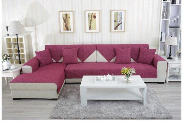 2015 夏季簡約風 超值推薦 60*180 CM 高級棉麻加大三人座沙發墊/ 坐墊/ 椅墊