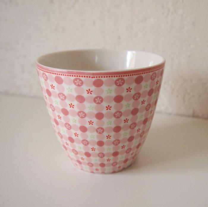 【預購】GreenGate 拿鐵杯  少女系粉紅小花~還有同系列盤子喔