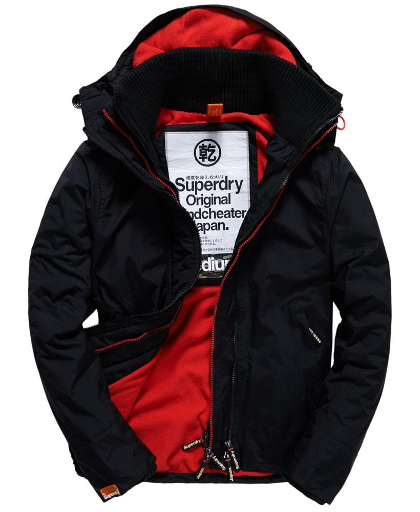 [男款] 英國代購 極度乾燥 Superdry Arctic 男士風衣戶外休閒 外套夾克 防水 防風 保暖 黑色/紅色