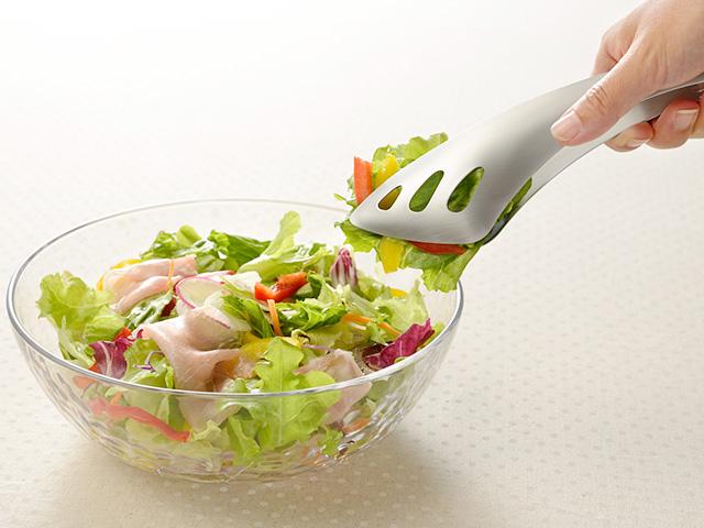 日本 Leye LS1514 不鏽鋼沙拉義大利麵餐桌萬用食物夾 (預購)