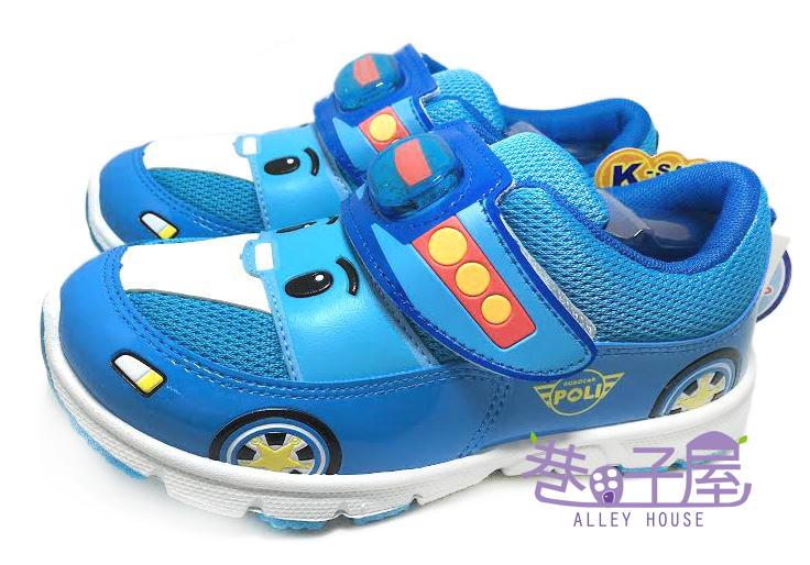 【巷子屋】救援小隊 POLI 波力 男童電燈運動休閒鞋 [41926] 藍 MIT台灣製造 超值價$198