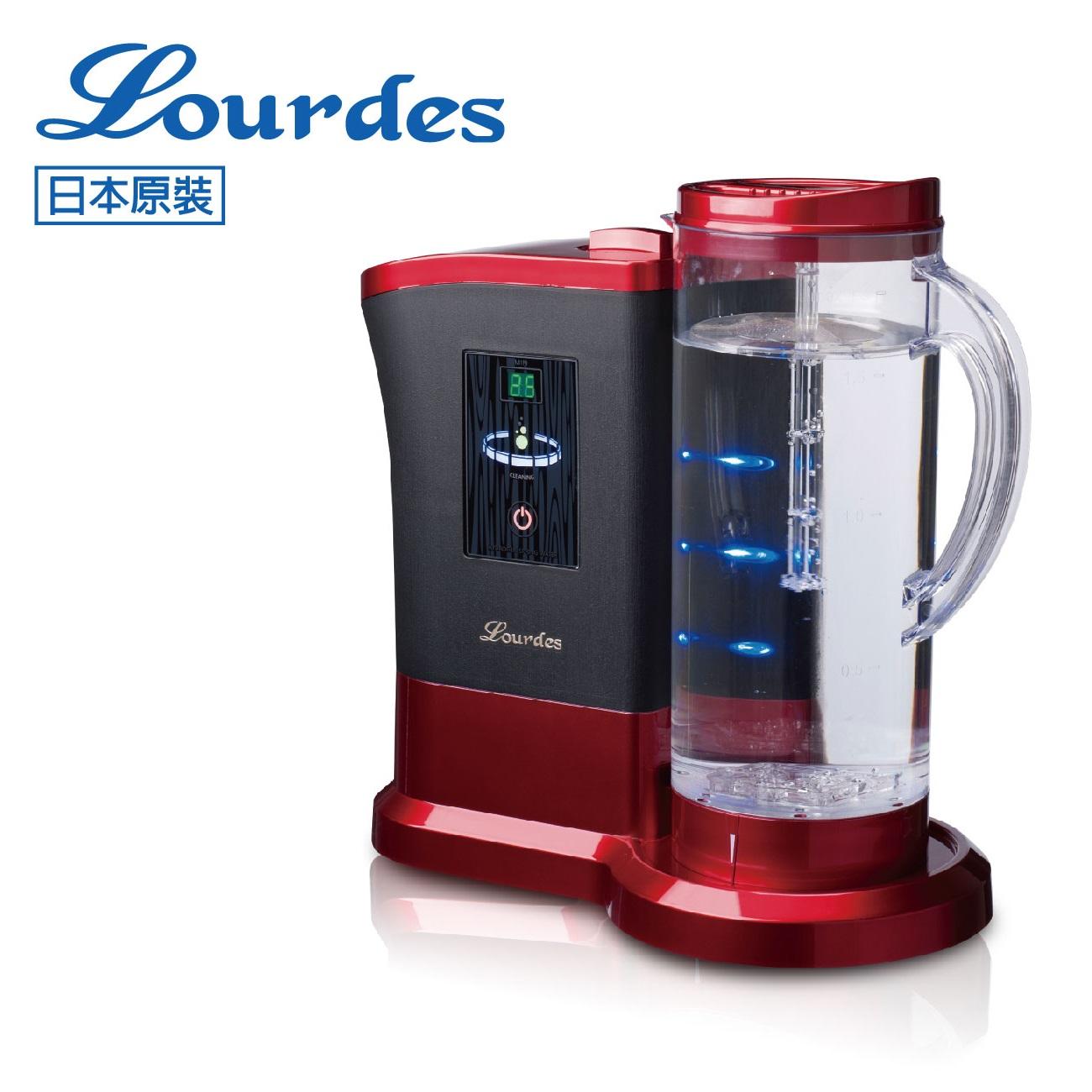 【淨水生活】日本Lourdes 羅德氫騎兵負氫水(高濃度水素水生成器) 水界明日之星 日本原裝進口 - 紅酒紅