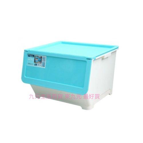 【九元生活百貨】聯府 LV800-1 前開式65L整理箱(藍) 置物 收納 LV8001