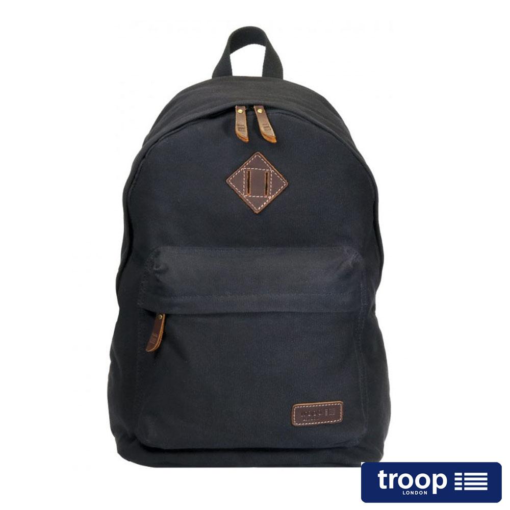 【TROOP】簡約休閒HERITAGE後背包/TRP0384BK