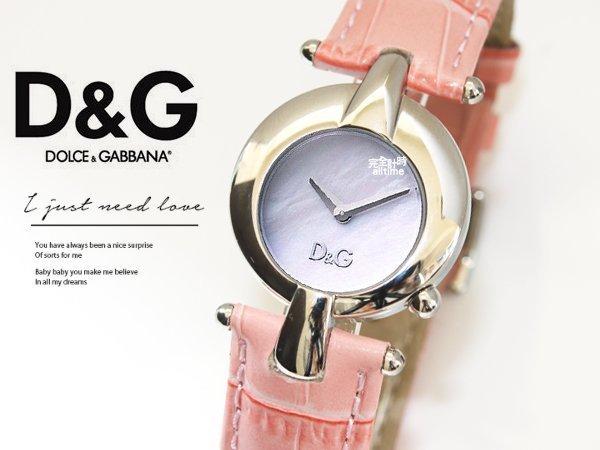 【完全計時】手錶館│D&G 普普藝術 優雅永恆腕錶 經典流線 DW0457 粉