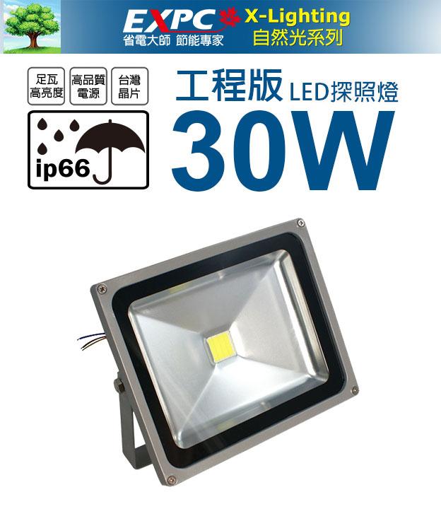 工程版 30W LED 探照燈 投射燈 投光燈 防水型 AC100V~240V ☆EXPC X-LIGHTING☆