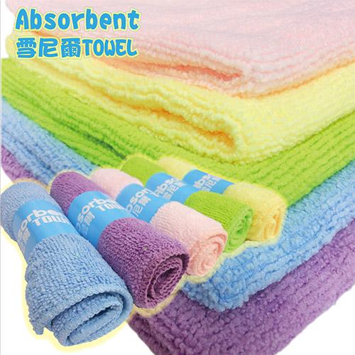 雪尼爾極細纖維吸水毛巾〈10件組〉抹布擦拭巾洗車浴巾洗臉電視購物熱銷