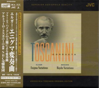 JVC 托斯卡尼尼(Arturo Toscanini)/艾爾加:謎之變奏曲、布拉姆斯:海頓主題變奏曲(Elgar:Enigma Variations, Brahms:Haydn Variations)..