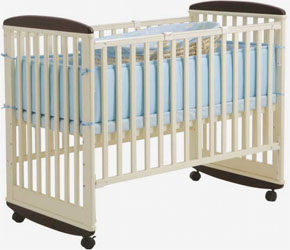 優生房【SweetBaby】水鑽嬰兒大床-白色