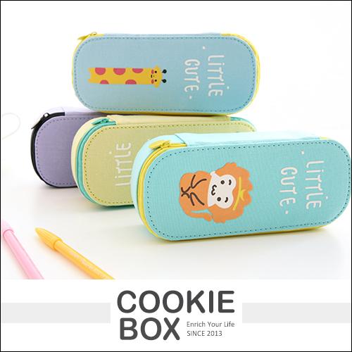 帆布 印花 大容量 鉛筆盒 筆袋 收納 動物 造型 *餅乾盒子*