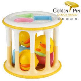 黃色小鴨 造型積木滾桶【德芳保健藥妝】