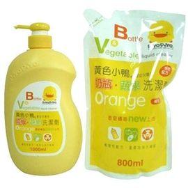 黃色小鴨 嬰幼兒專用奶瓶蔬果洗潔劑超值組合【德芳保健藥妝】