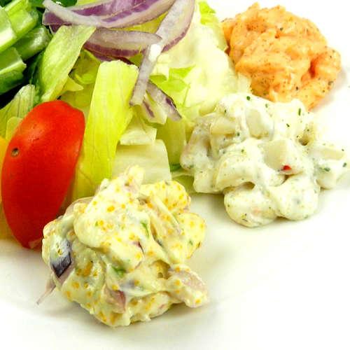【好神】夏日輕食海鮮總匯沙拉大集合 5包組(鮑魚沙拉2包+龍蝦沙拉2包+海鮮沙拉1包