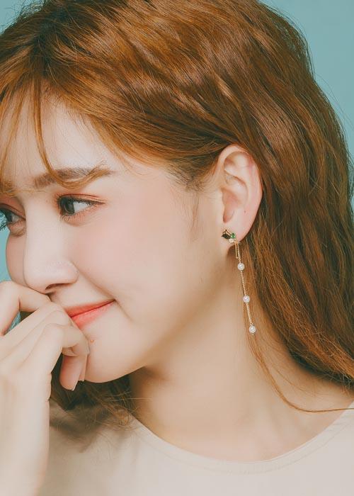 韓國飾品,垂墜耳環,童趣耳環,動物耳環,夾式耳環