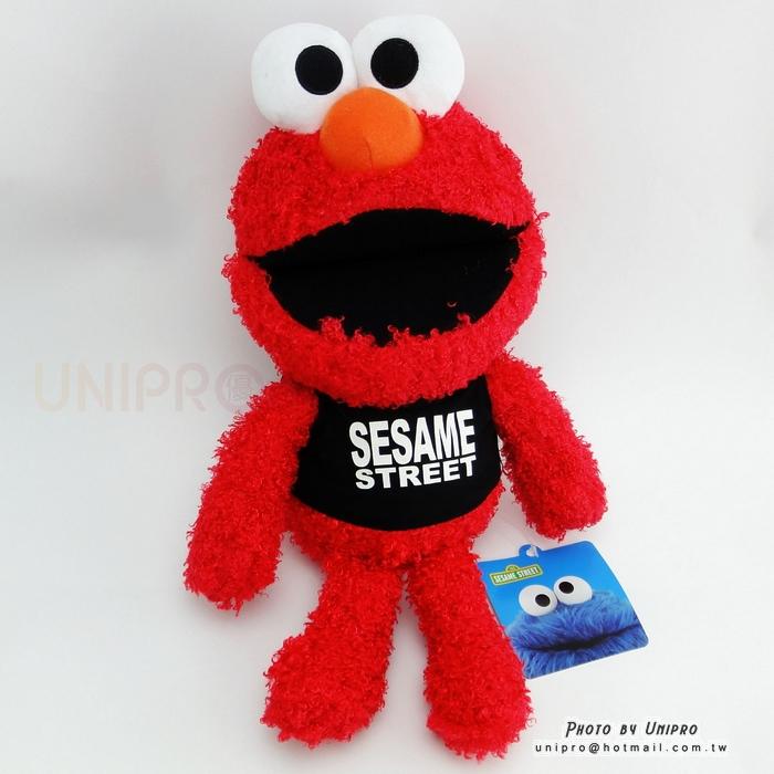 【UNIPRO】芝麻街 ELMO 笑臉 艾蒙 絨毛娃娃 玩偶 正版授權 SESAME STREET