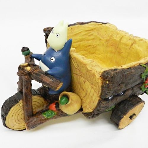 【真愛日本】16022600029 花器-三輪車灰龍貓推車 TOTORO 豆豆龍 花盆 盆栽 收納 居家擺飾