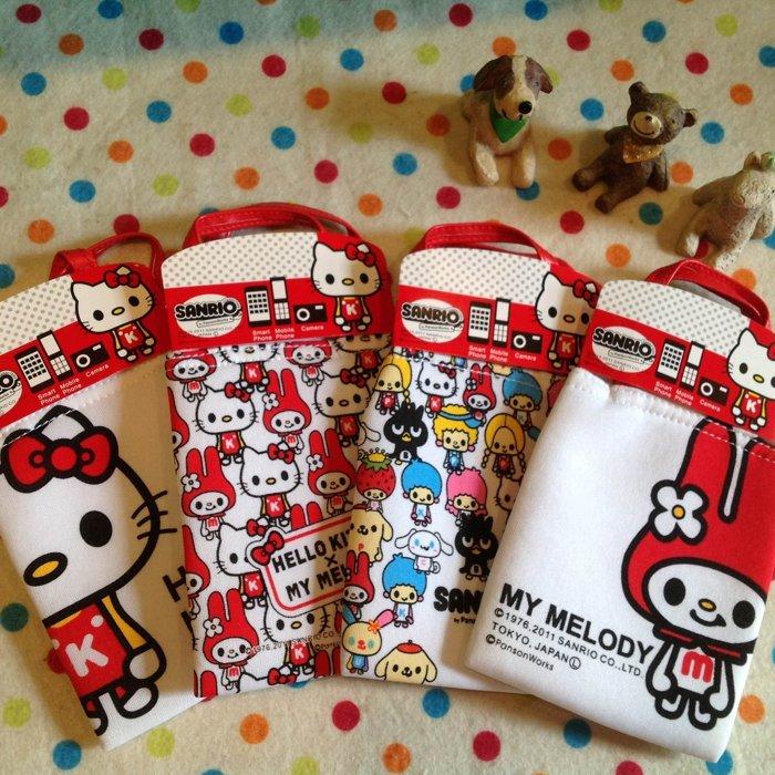 =優生活=【限量款$150】日本正版凱蒂貓 HELLO KITTY 美樂蒂 酷企鵝 雙子星 手機袋掛袋 悠遊卡包 相機包手機套 包