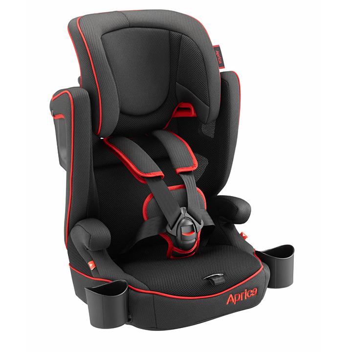 Aprica愛普力卡 - Air Groove 限定版 成長型輔助汽車安全座椅(汽座) -黑色龍捲風