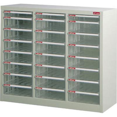 【文具通】A4M3-21*3落地三排型資料櫃(透明抽) A0680047
