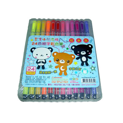 【文具通】三隻小熊24色可水洗彩色筆2300934 A1020369