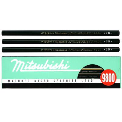 【文具通】UNI 三菱 9800 製圖鉛筆 6B A1110062