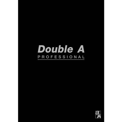 【文具通】Double a A5 25k40張入膠裝固頁筆記 黑 A3011240