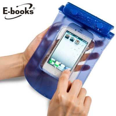 【文具通】E-books N1 智慧手機防水保護袋(通用型)藍 E-IPB006BL