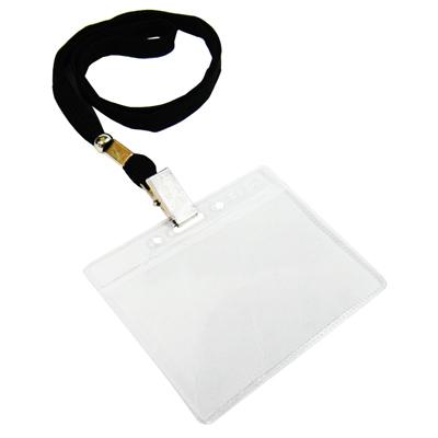 【文具通】無印字識別證套+布帶組[黑]台製 F6010509
