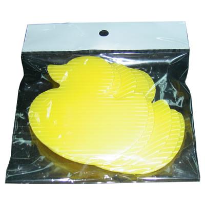 【文具通】小鴨造型PP塑膠瓦楞板 小 9x9cm 5入 H9010176