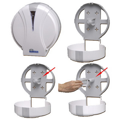 【文具通】大捲筒衛生紙架圓 壓克力.白 L3010428
