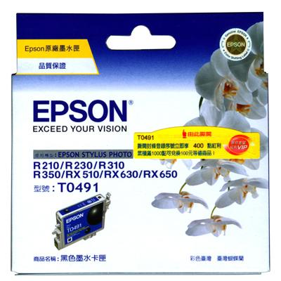 【文具通】EPSON R310/T049150墨水匣.黑 R1010257