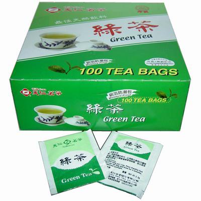 【文具通】天仁防潮包綠茶袋茶100入 TZ010006
